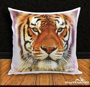 Almofada Personalizada Linha Pet Tigre Modelo 02  (Com Capa Material Oxford + Enchimento) - 01 Unidade
