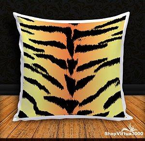 Almofada Personalizada Linha Pet Pele de Tigre (Com Capa Material Oxford + Enchimento) - 01 Unidade
