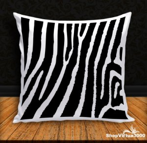 Almofada Personalizada Linha Pet Pele de Zebra Modelo 01 (Com Capa Material Oxford + Enchimento) - 01 Unidade