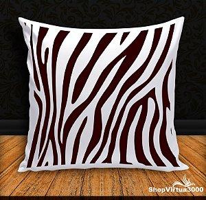 Almofada Personalizada Linha Pet Pele de Zebra Modelo 02 (Com Capa Material Oxford + Enchimento) - 01 Unidade