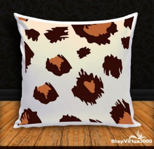 Almofada Personalizada Linha Pet Pele de Leopardo (Com Capa Material Oxford + Enchimento) - 01 Unidade