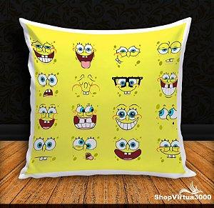Almofada Personalizada Bob Esponja Emotions (Com Capa Material Oxford + Enchimento) - 01 Unidade