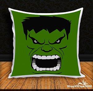 Almofada Personalizada Hulk Face (Com Capa Material Oxford + Enchimento) - 01 Unidade
