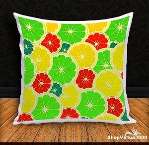 Almofada Personalizada Limões e Laranjas Coloridas (Com Capa Material Oxford + Enchimento) - 01 Unidade