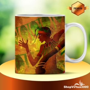 Caneca Cerâmica Classe +AAA Personalizada Cultura Raízes Africanas - 01 Unidade