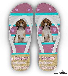 Chinelo Borracha Branco Personalizado Linha Pet Dog - 01 Unidade