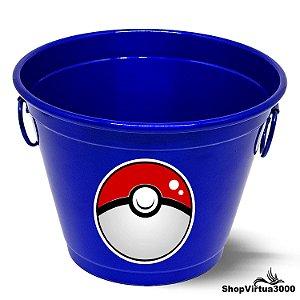 Balde para Gelo Em Alumínio Linha Luxo Design Brilhante Personalizado Pokemon Pokebola - 01 Unidade