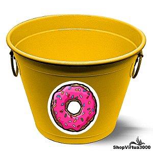 Balde para Gelo Em Alumínio Linha Luxo Design Brilhante Personalizado Donuts Tumblr - 01 Unidade