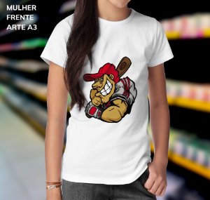 Camisa 100% Poliéster Personalizada Funny Cartoon Baseball  - 01 Unidade