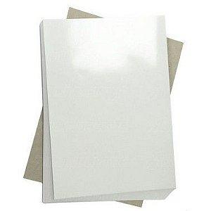 Papel Fotográfico Glossy (resistente à água apenas p/ tintas corantes) 135g/m² - A4 Masterprint - 50 folhas