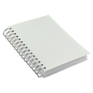Agenda Compacta Em Wire-o Sublimática 11x15cm Permanente Pautada 382 Páginas Com Capa Sublimável Em Material Pet (LG429) - 01 Unidade