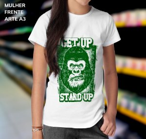 Camisa 100% Poliéster Personalizada Get Up Stard Up - 01 Unidade
