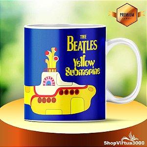 Caneca Cerâmica Classe +AAA Personalizada The Beatles Yellow Submarine - 01 Unidade