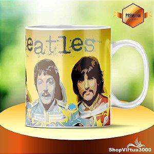 Caneca Cerâmica Classe +AAA Personalizada The Beatles Yellow Art - 01 Unidade