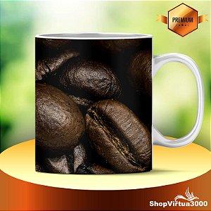 Caneca Cerâmica Classe +AAA Personalizada Grãos de Café Zoom - 01 Unidade