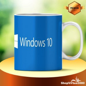 Caneca Cerâmica Classe +AAA Personalizada Windows 10 - 01 Unidade