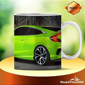 Caneca Cerâmica Classe +AAA Personalizada Honda Civic Concept Verde - 01 Unidade