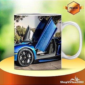 Caneca Cerâmica Classe +AAA Personalizada Sea Blue Lamborghini - 01 Unidade