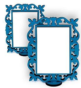 Porta Retrato Linha Arabesco Colorido Azul Aquamarine Mdf 9mm Tamanho 15x20cm Com 01 Peça Branca Resinada para Sublimação 14x9cm Ultra Brilho - 01 Unidade (PH1436)