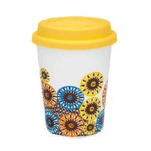 Copo Branco Modelo Trip Starbucks 300ml - Tampa Amarelo - 01 Unidade