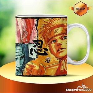 Caneca Cerâmica Classe +AAA Personalizada Naruto Masashi Kishimoto Art - 01 Unidade