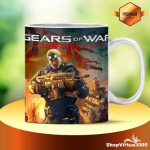 Caneca Cerâmica Classe +AAA Personalizada Gears of War: Judgment - 01 Unidade
