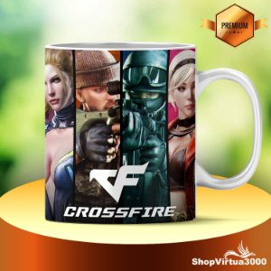 Caneca Cerâmica Classe +AAA Personalizada Crossfire - 01 Unidade