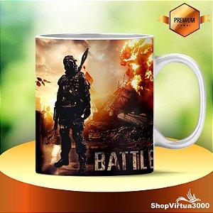 Caneca Cerâmica Classe +AAA Personalizada Battlefield 4 Modelo 05 - 01 Unidade