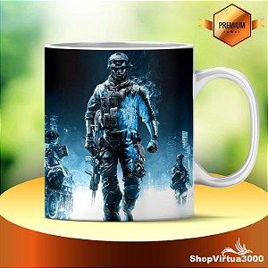 Caneca Cerâmica Classe +AAA Personalizada Battlefield Modelo 06 - 01 Unidade