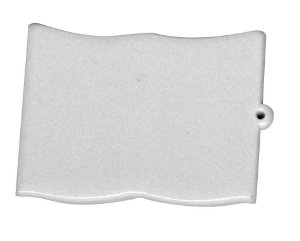 Chaveiro Em Polímero Branco para Sublimação Formato Bíblia Com Argola - Pacote Com 10 Unidades