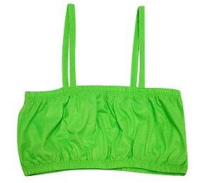 Top Cropped para Sublimação Com Alça Tamanho Único Em Poliéster Verde Neon - 01 Unidade