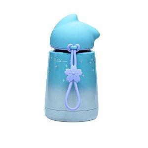 Garrafa Térmica Linha Luxo Gatinho em Inox Sublimável Azul Claro Neve 300ml (ShopVirtua3000®) (3026) - 01 Unidade