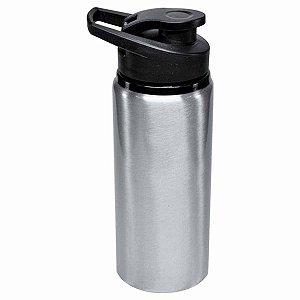 Squeeze Big Mouth em Alumínio Sublimável Prata 600ml Tampa Pressão (ShopVirtua3000®) (2984) - 01 Unidade (PROMO TOP)