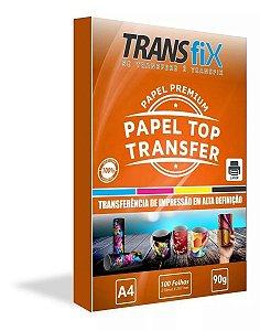 Papel Transfer Laser Premium Top Transfer 90g Transfix A4 - Pack 100 Folhas