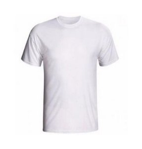 Camiseta/Camisa Helanca Tamanho M Gola Careca Manga Curta Baby Look em Malha 100% poliéster Branca Sublimática - 01 Unidade