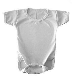 Body Baby Branco 100% Helanca para Sublimação Manga Curta - 01 Unidade