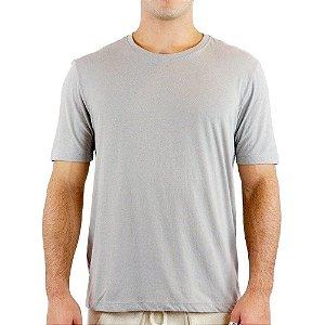 Camisa Unissex 100% Algodão Cinza Claro para Transfer ou Silk - 01 Unidade