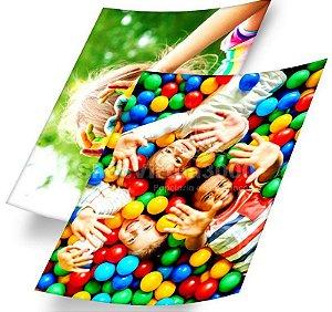 Papel Fotográfico Adesivo Glossy (resistente à água apenas p/ tintas corantes) 115g/m² - A4 (BC-2002) - 100 folhas (Promoção Natal)