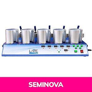 Prensa Térmica Caneca 5 em 1 - 110v Display Digital Seminova (2158) (LiveSub)