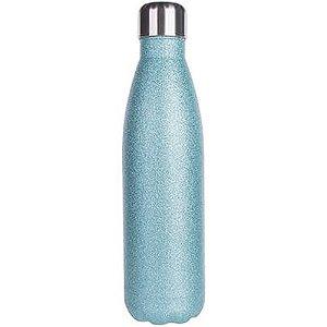Garrafa Térmica Para Sublimação em Inox Glitter Azul Claro 500ml (2669) - 01 Unidade (PROMO BOAS FESTAS)