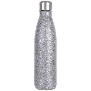 Garrafa Térmica Para Sublimação em Inox Glitter Prata 500ml (2671) - 01 Unidade