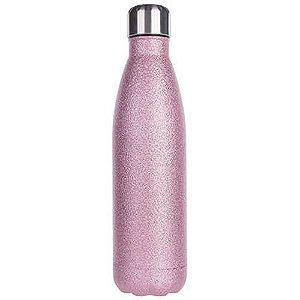 Garrafa Térmica Para Sublimação em Inox Glitter Rosa Pink 500ml (2673) - 01 Unidade