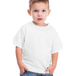 Camisa Tamanho Infantil 02 anos Gola Careca Unissex 100% poliéster Branca Sublimática (CA1001) - 01 Unidade