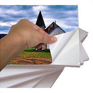 Papel Fotográfico Adesivo Glossy (resistente à água apenas p/ tintas corantes) 90g/m² - A4 (SV3000) - 100 folhas