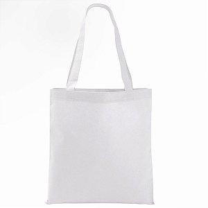 Sacola Ecobag Vertical 40x35cm Tecido Oxford Branca Para Sublimação