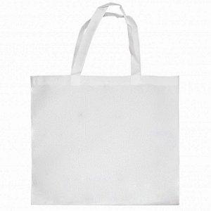 Sacola Ecobag Horizontal 35x40cm Tecido Oxford Branca Para Sublimação
