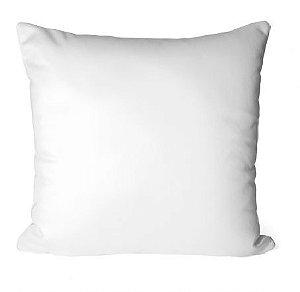 Capa de Almofada para Sublimação Tamanho 40x40 Material Oxford Branco Com Zíper Invisível - 05 Unidades