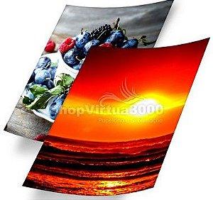 Papel Fotográfico Adesivo Glossy (resistente à água apenas p/ tintas corantes) 180g/m² - A4 (BC-2019) - 100 folhas