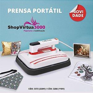 Prensa Térmica Plana PORTÁTIL 30x25 cm- 110v ShopVirtua3000® (3286) (LiveSub) - 01 Unidade