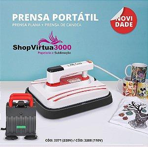 Prensa Térmica PORTÁTIL Combo 4 em 1 30x25cm - 110v ShopVirtua3000® (3288) (LiveSub) - 01 Unidade